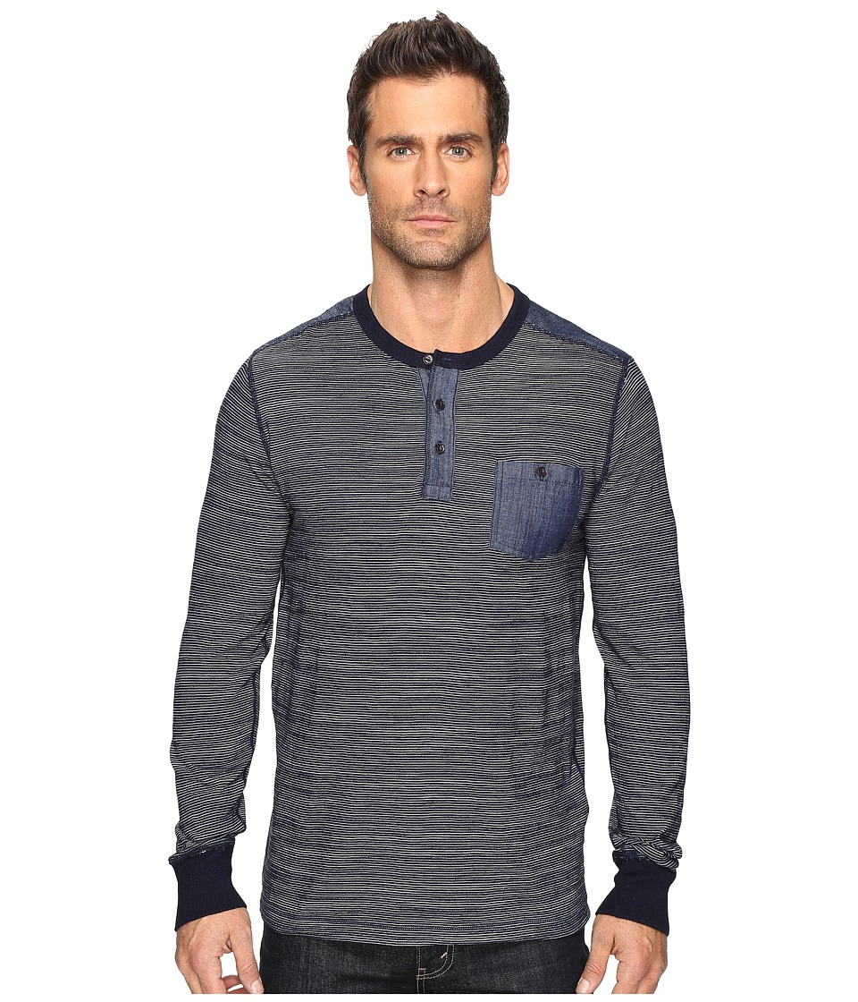 Lucky Brand Surfside Indigo Stripe Henley (Indigo) Men