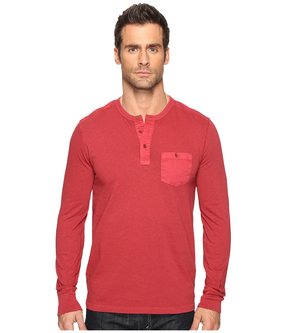 Lucky Brand Surfside Henley (Biking Red (Prior Season)) Men