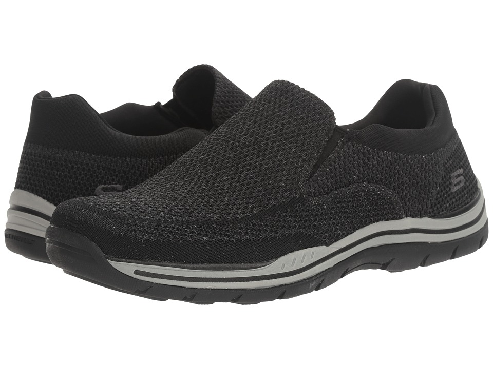 Skechers Relaxed Fit Expected - Gomel (Black Knitted Mesh...