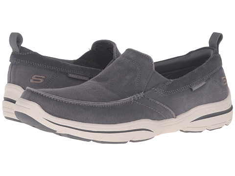 SKECHERS Relaxed Fit Haper - Delen - Gray Washed Canvas