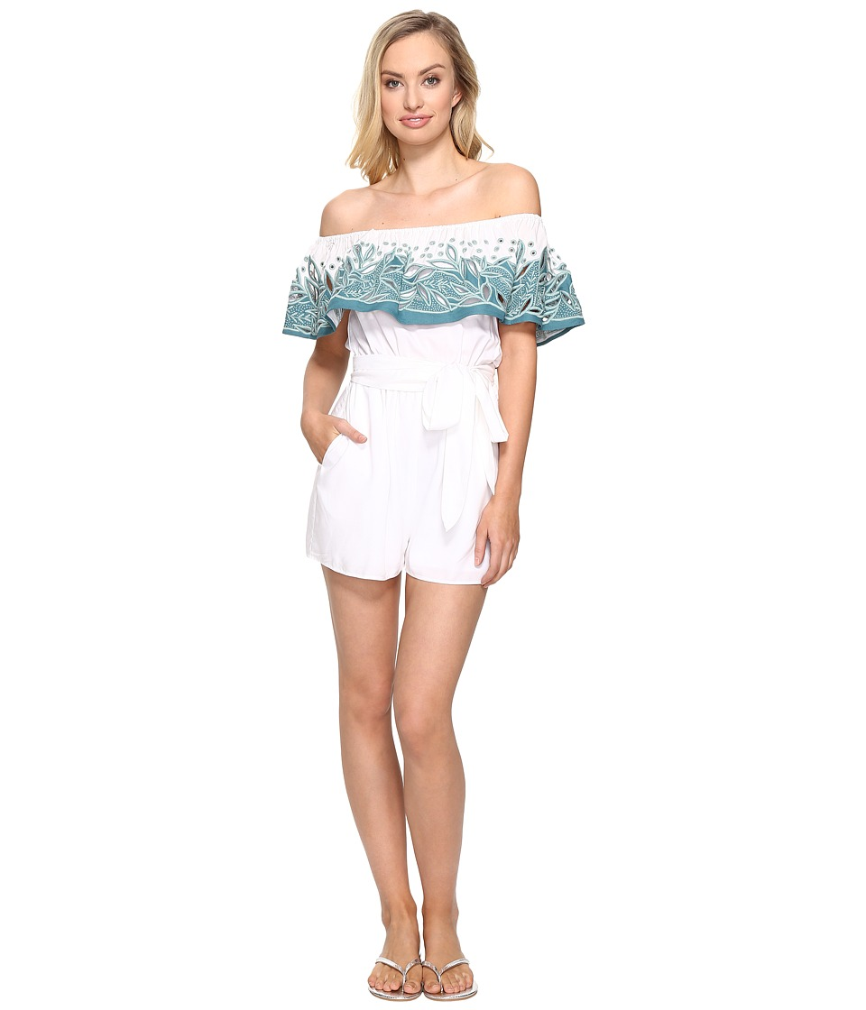 Mara Hoffman Mara Hoffman - Embroidered Off the Shoulder Romper