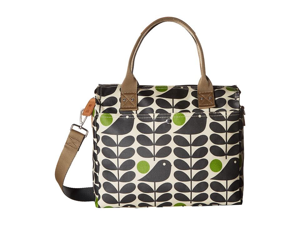 Orla Kiely - Early Bird Print Zip Messenger (Granite) Messenger Bags