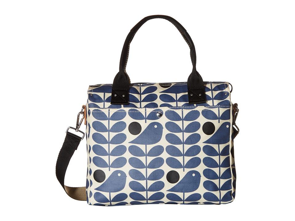 Orla Kiely - Early Bird Print Zip Messenger (Prussian Blue) Messenger Bags