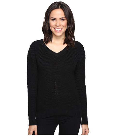 Michael Stars Alpine Knit V-Neck Cold Shoulder Sweater