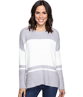 Michael Stars - Fuzzy Oversized Stripe Pullover Sweater
