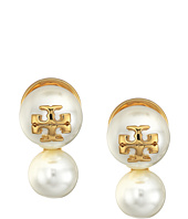 Tory Burch - Crystal Pearl Double Stud Earrings