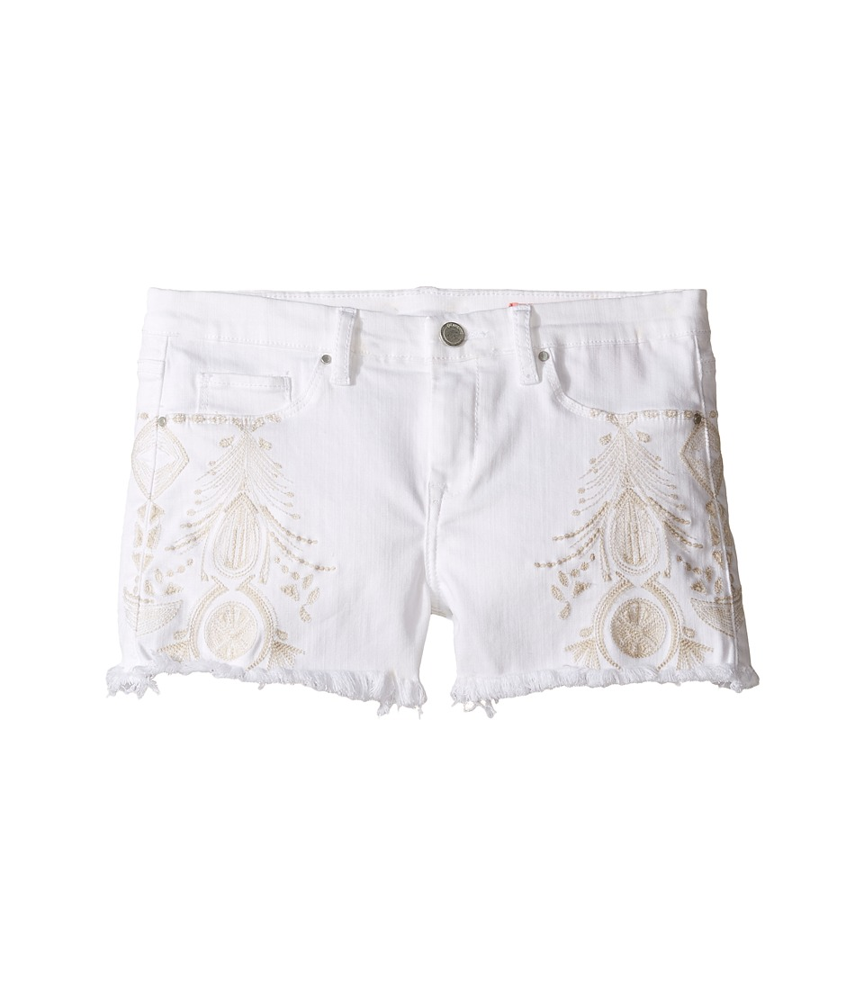 Blank NYC Kids - White Embroidered Cut Off Shorts