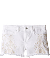 Blank NYC Kids - White Embroidered Cut Off Shorts (Big Kids)