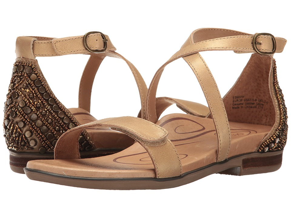 Aetrex Brenda (Light Gold) Women's Dress Sandals