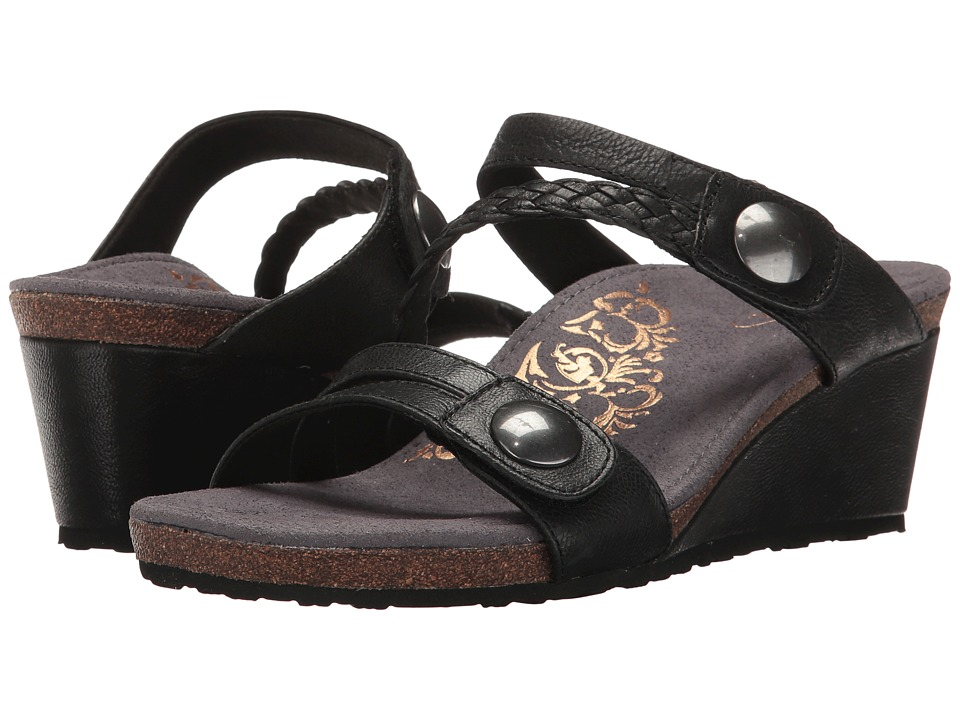 Aetrex - Lydia (Black) Women's Sandals