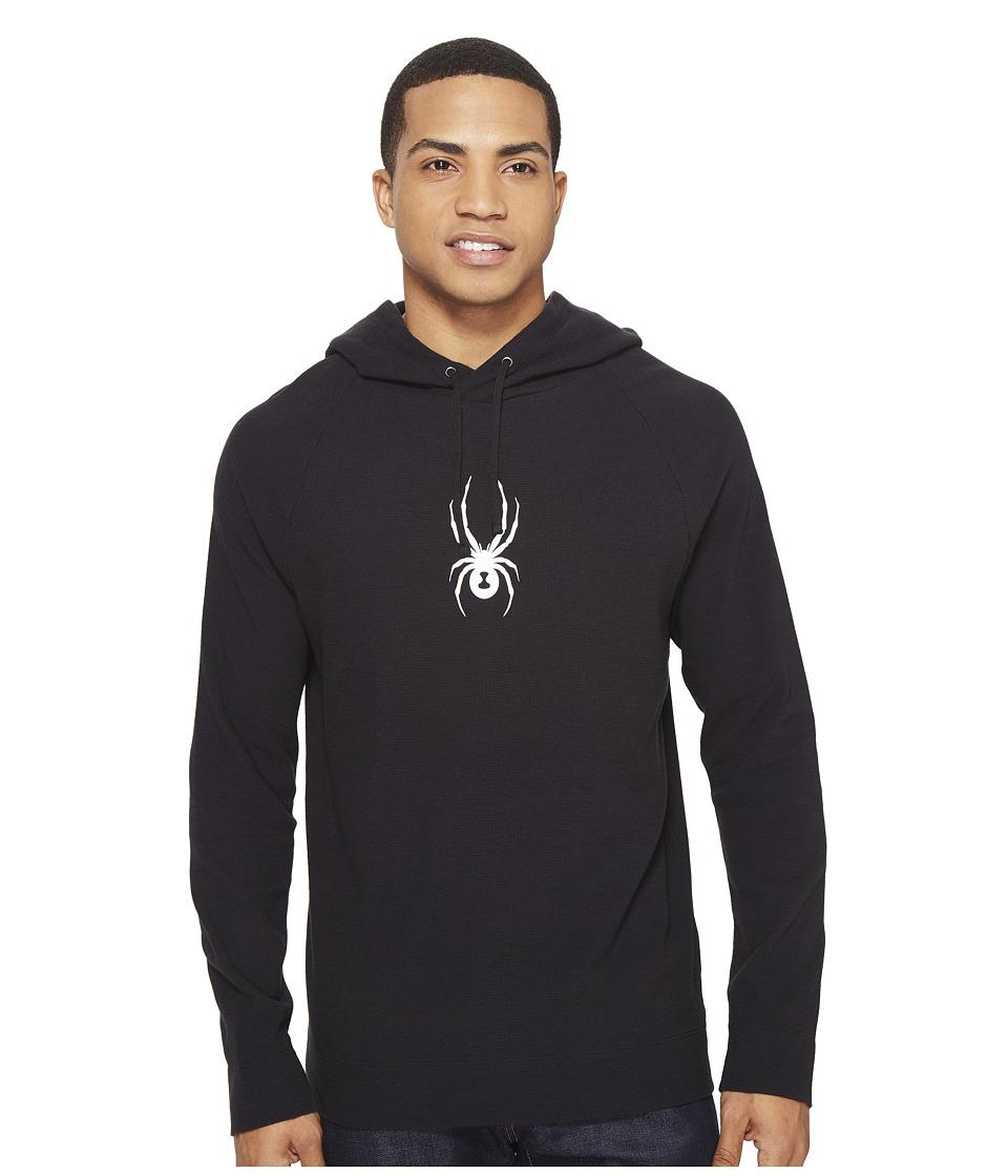 Spyder - Vintage Jersey Raglan Hoodie (Black) Men's Sweatshirt