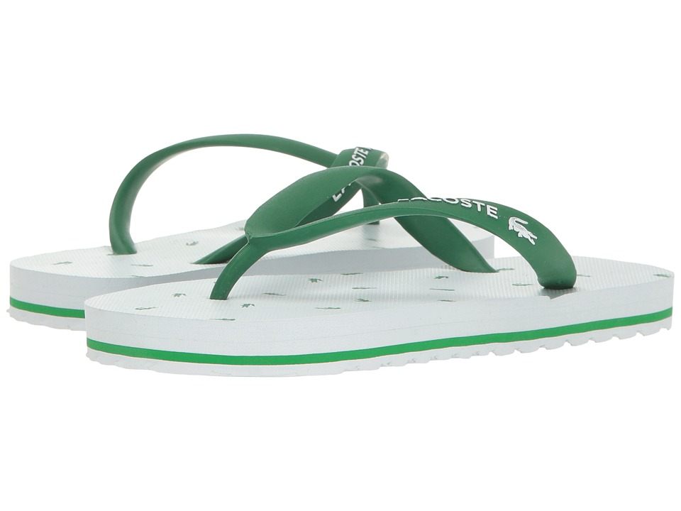 Lacoste Kids - Nosara 116 1 (Little Kid) (White/Green) Girls Shoes