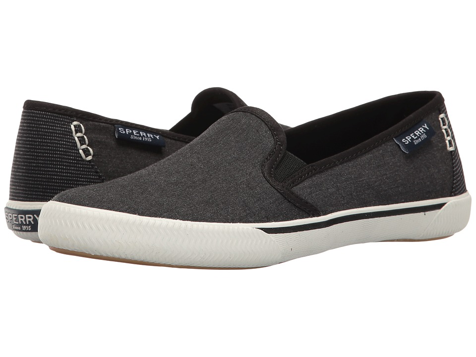 Sperry Top-Sider Quest Cay Canvas (Black) Women's Slip on...