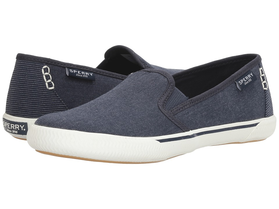 Sperry Quest Cay Canvas (Navy) Women