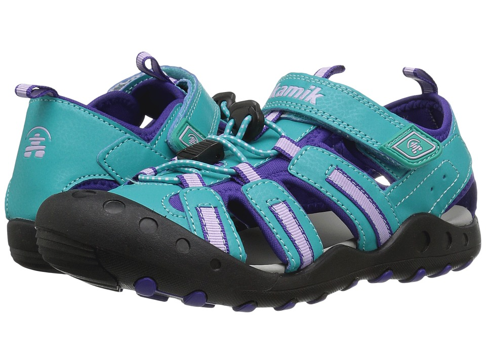Kamik Kids Crab (Toddler/Little Kid/Big Kid) (Teal) Girl's Shoes