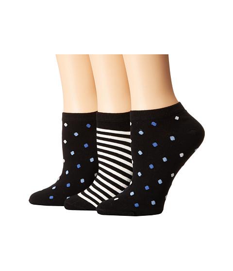 Kate Spade New York Multi Dot/Stripe 3-Pack No Show