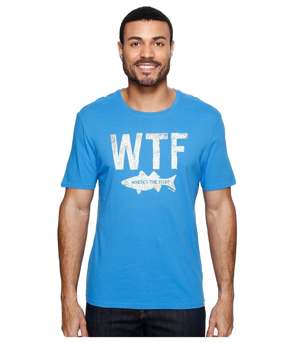 Life is Good WTF Fish Smooth Tee (Marina Blue) Men