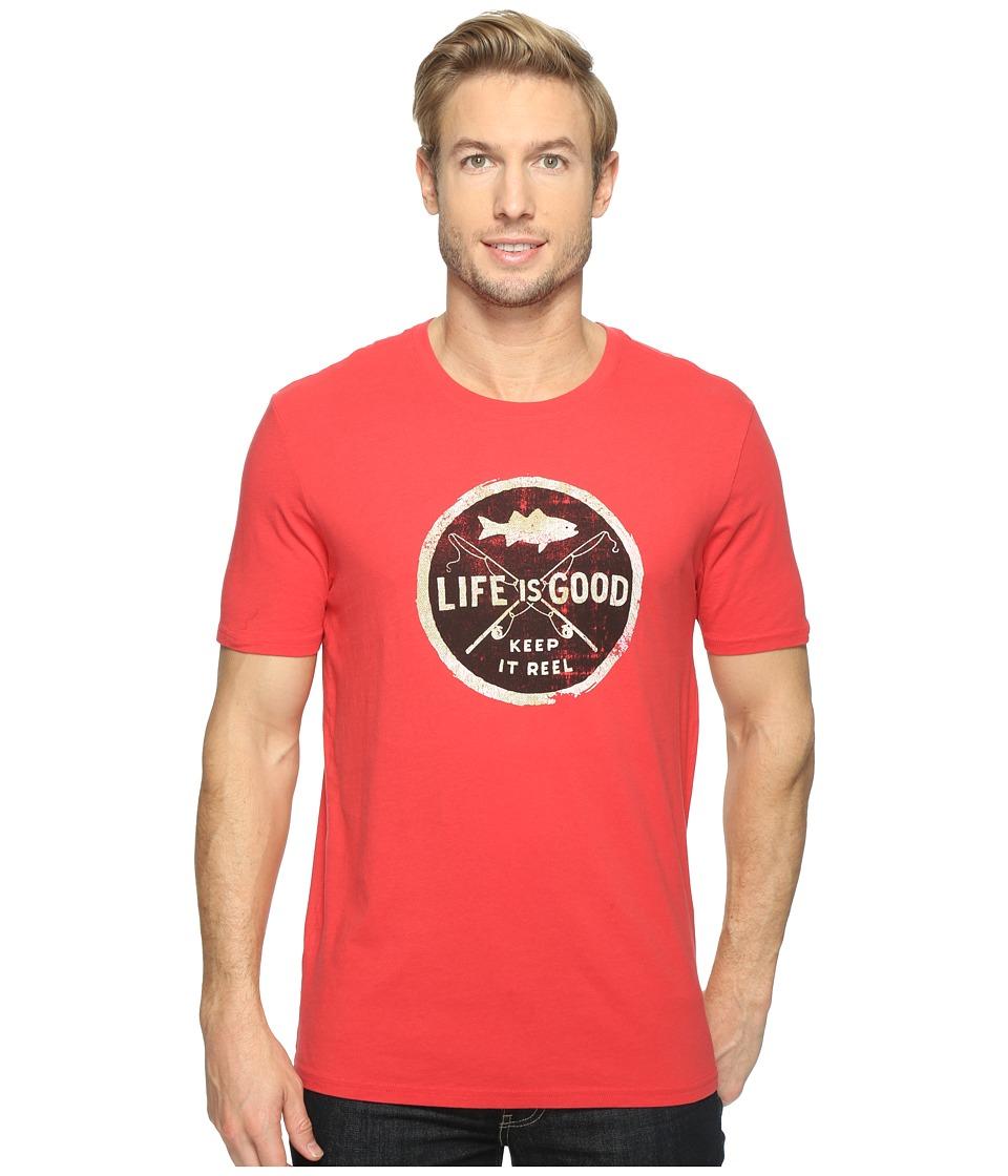 Life is good Keep It Reel Smooth Tee (Americana Red) Men