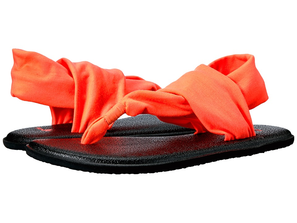 Sanuk Kids Yoga Sling Burst (Little Kid/Big Kid) (Tropical Papaya) Girls Shoes