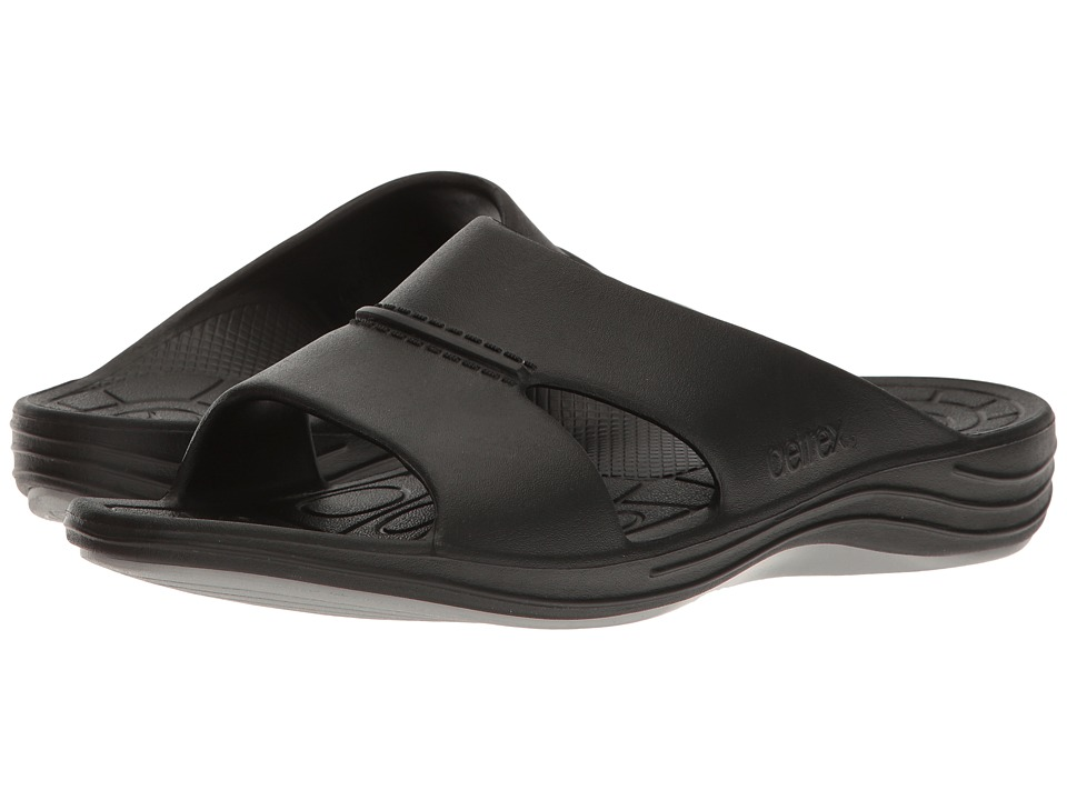 Aetrex - Lynco Slide (Black) Men's Sandals
