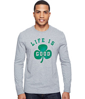 Life is Good - Shamrock Long Sleeve Crusher Tee