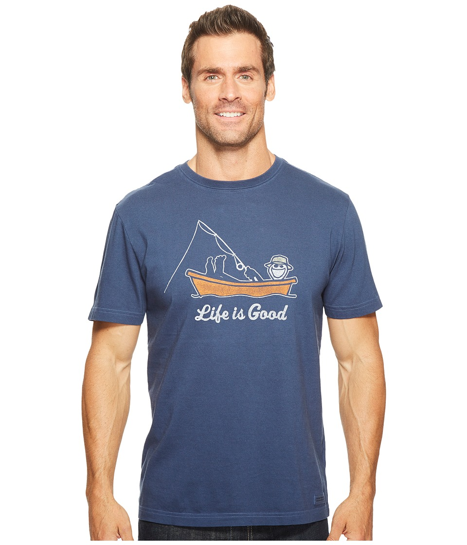 Life is Good Kickback Fish Crusher Tee (Darkest Blue) Men
