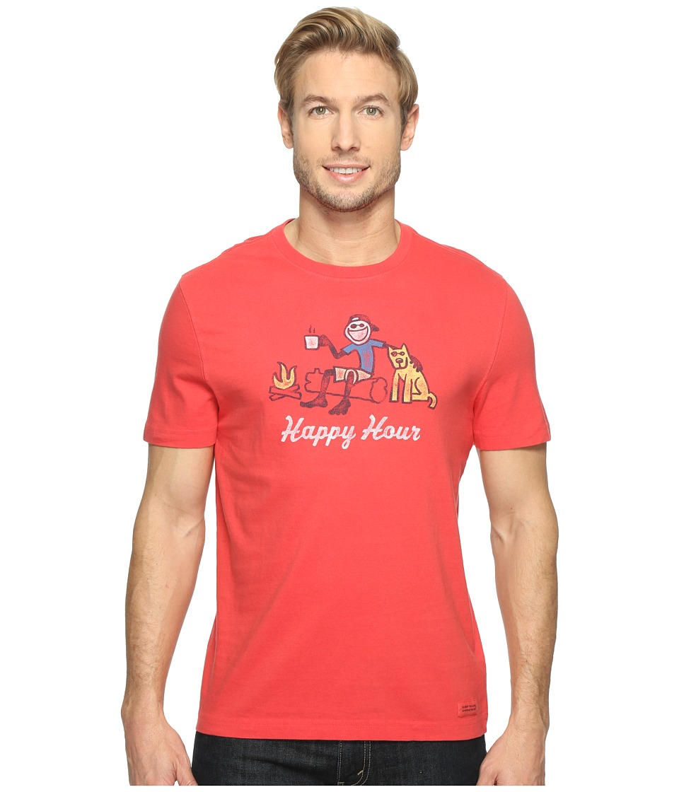 Life is good Happy Hour Campfire Crusher Tee (Americana Red) Men