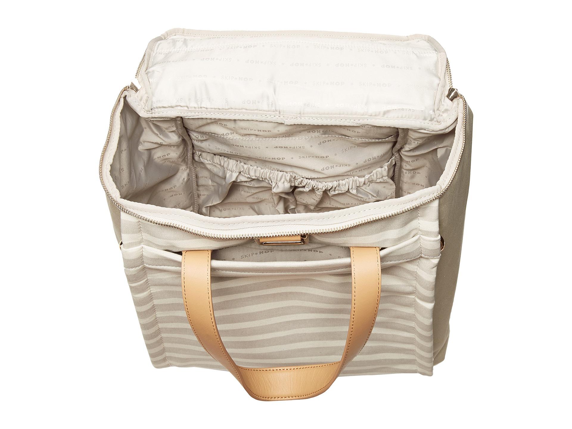 skip hop highline convertible diaper bag backpack oyster stripe free shipping both ways. Black Bedroom Furniture Sets. Home Design Ideas