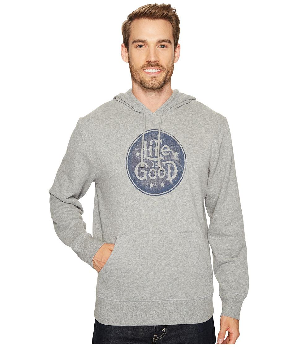 Life Is Good r) Go-To Hoodie (Heather Gray) Men's Sweatshirt