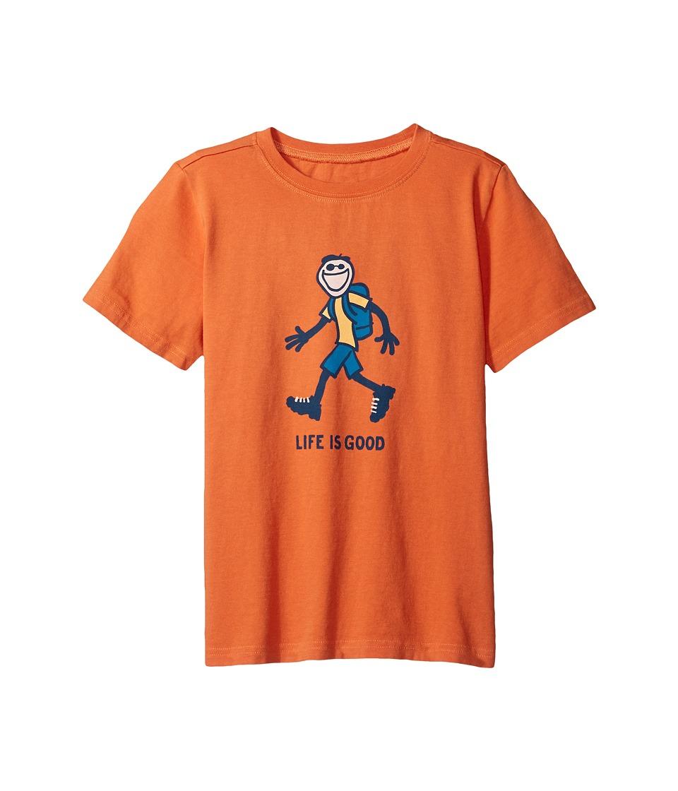 Life is good Kids Hike Tee (Little Kids/Big Kids) (Ember Orange) Boy
