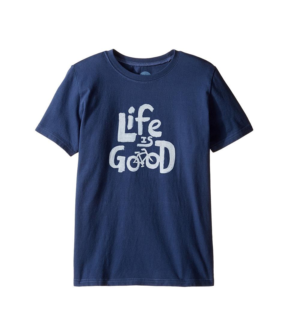 Life is good Kids Bike Tee (Little Kids/Big Kids) (Darkest Blue) Boy