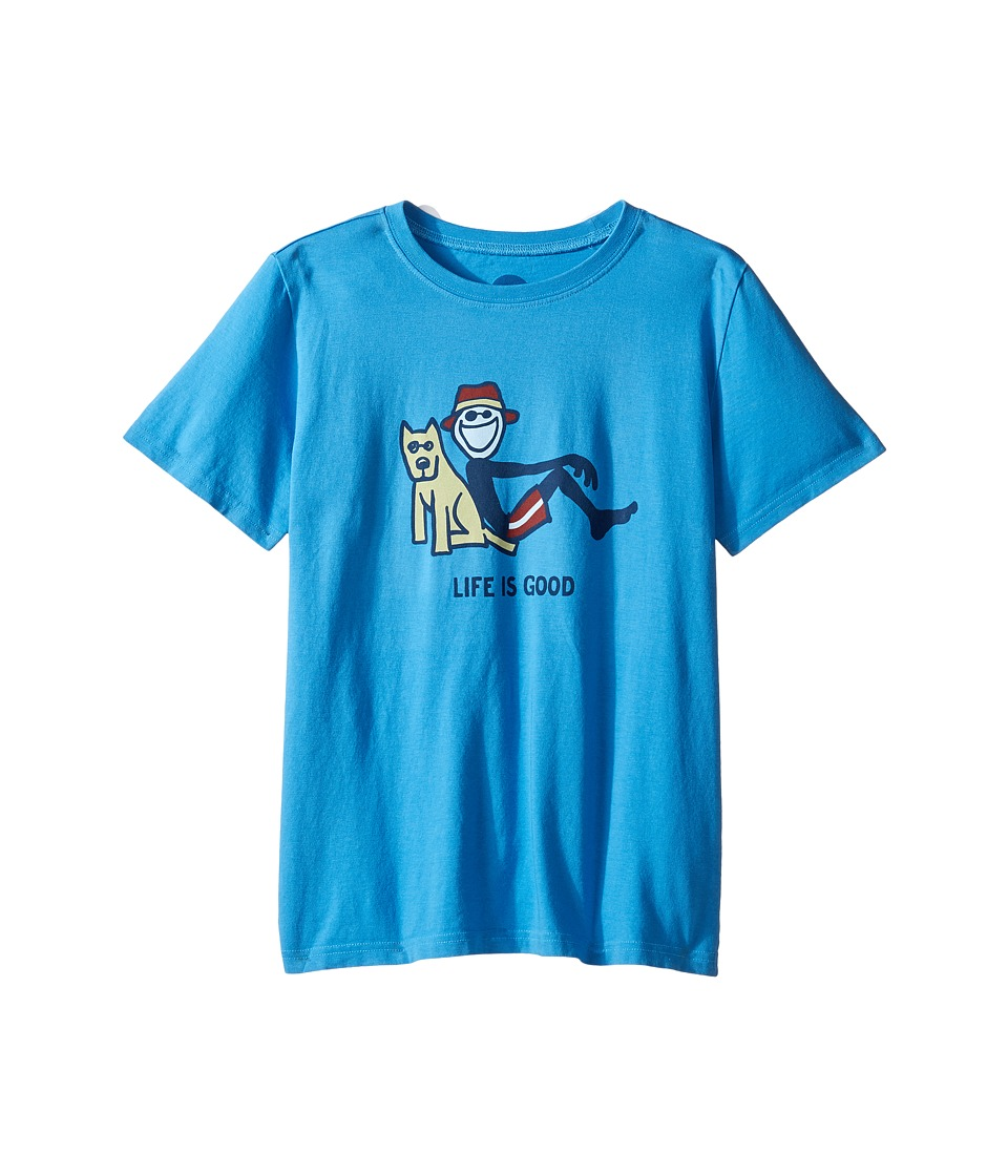 Life is good Kids Lean On Me Tee (Little Kids/Big Kids) (Marina Blue) Boy