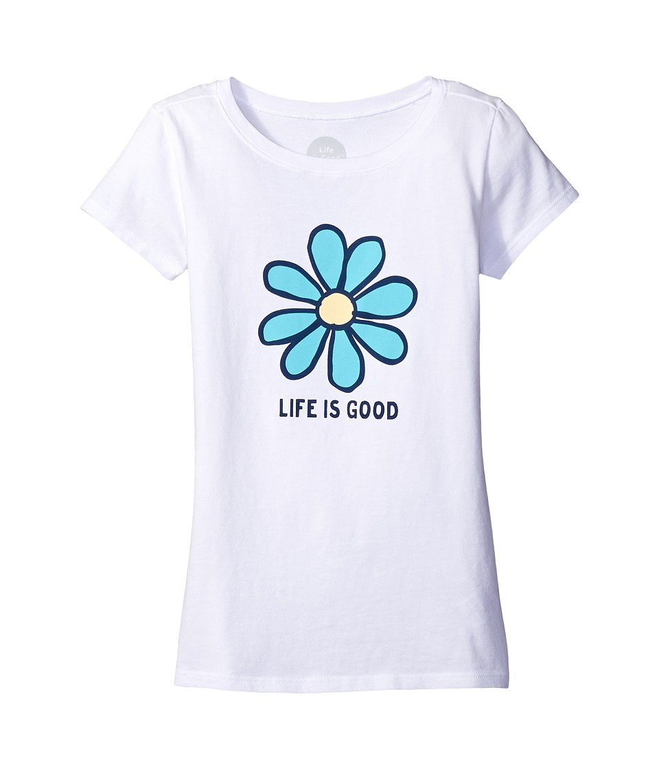Life is good Kids Daisy Life is Good Tee (Little Kids/Big Kids) (Cloud White) Girl