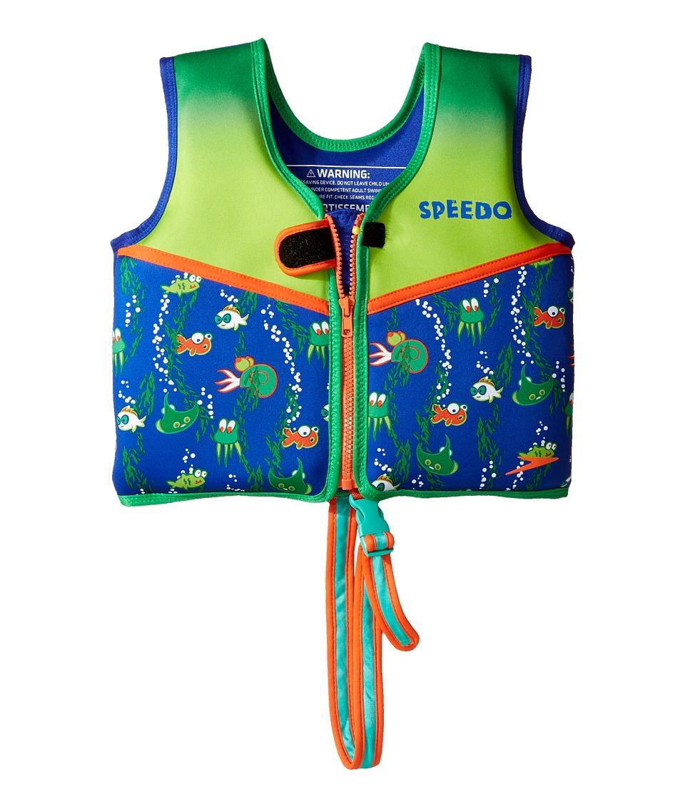Speedo - Printed Neoprene Swim Vest (Toddler/Little Kids) (Sapphire Blue) Outdoor Sports Equipment