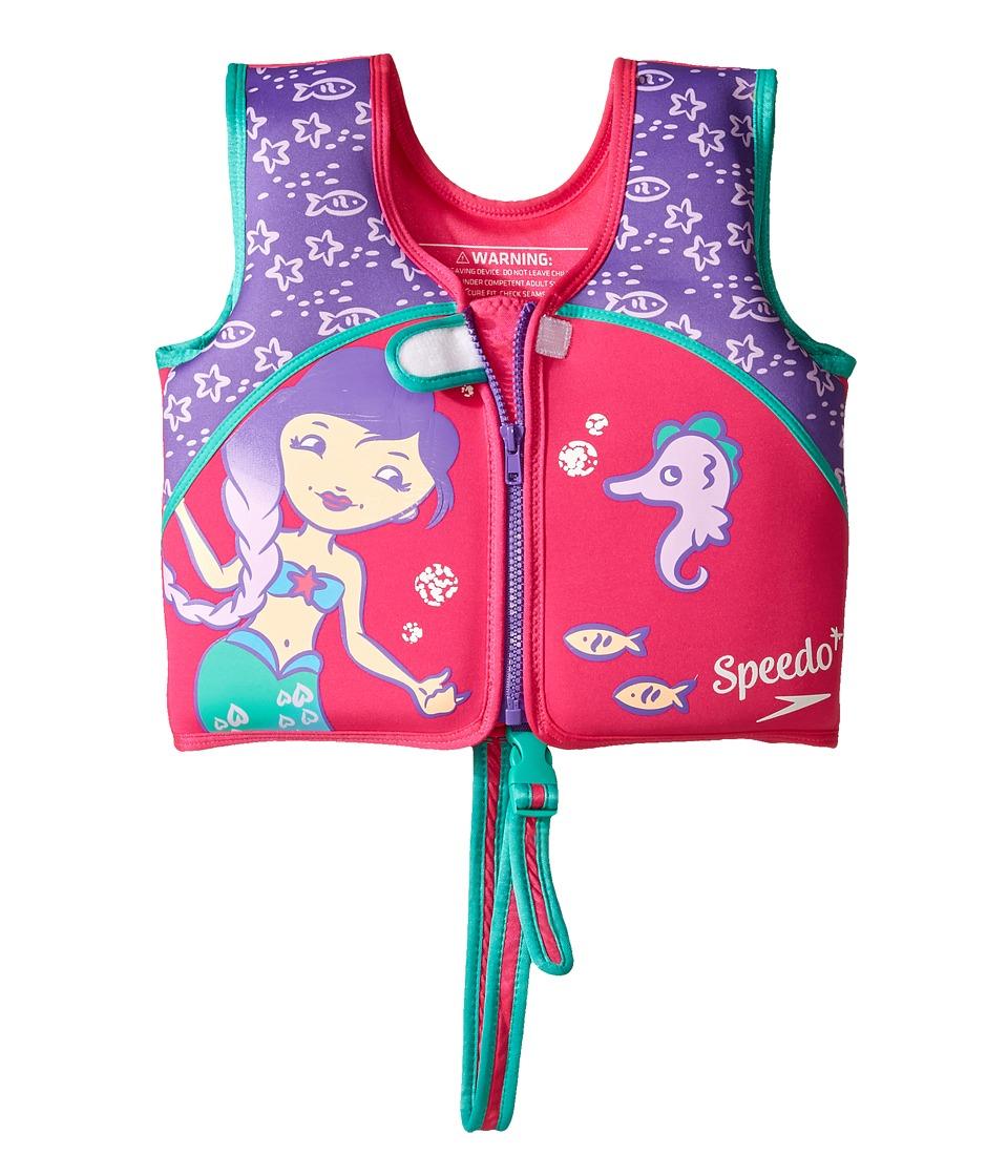Speedo - Printed Neoprene Swim Vest (Toddler/Little Kids) (Berry/Grape) Outdoor Sports Equipment