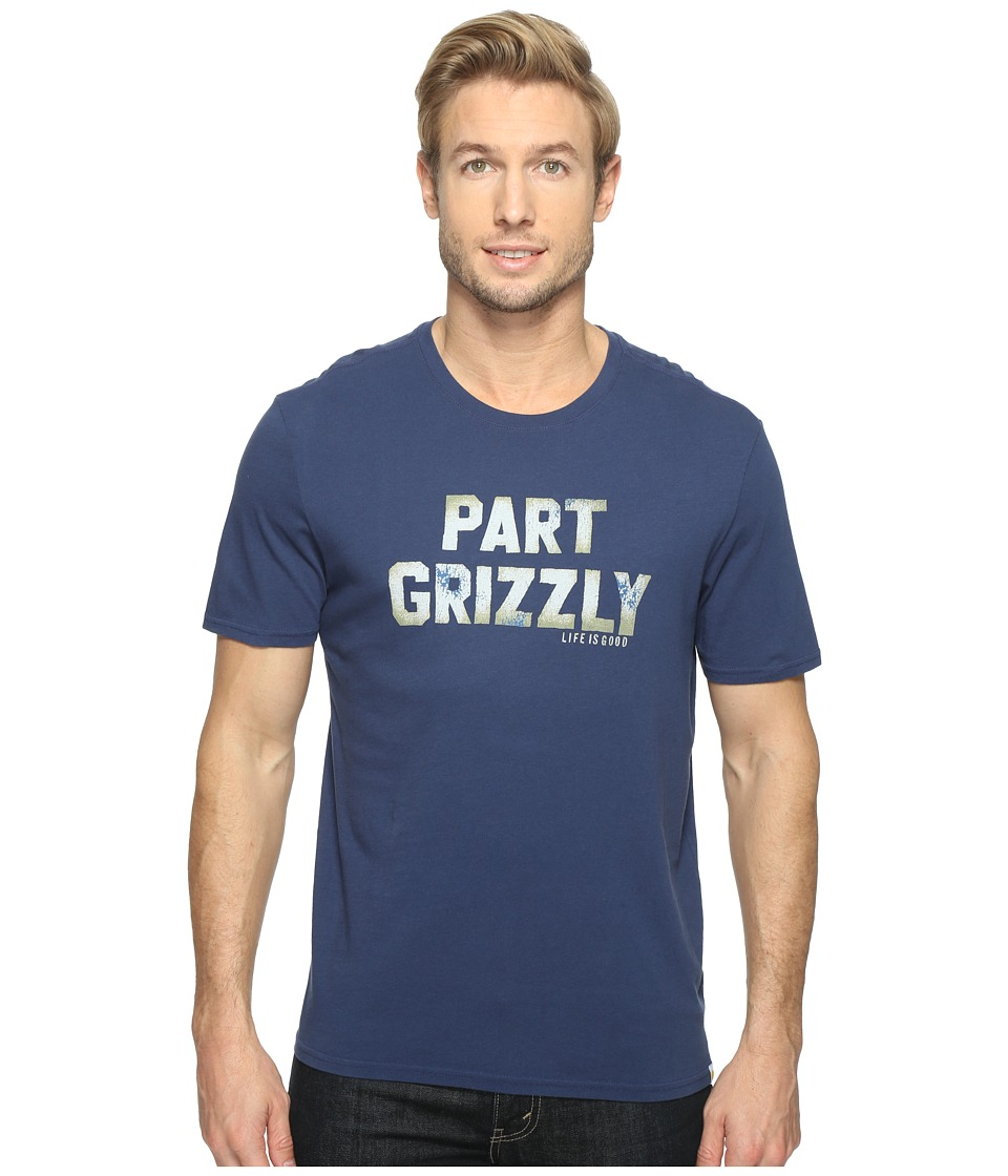 Life is Good Part Grizzly Smooth Tee (Darkest Blue) Men