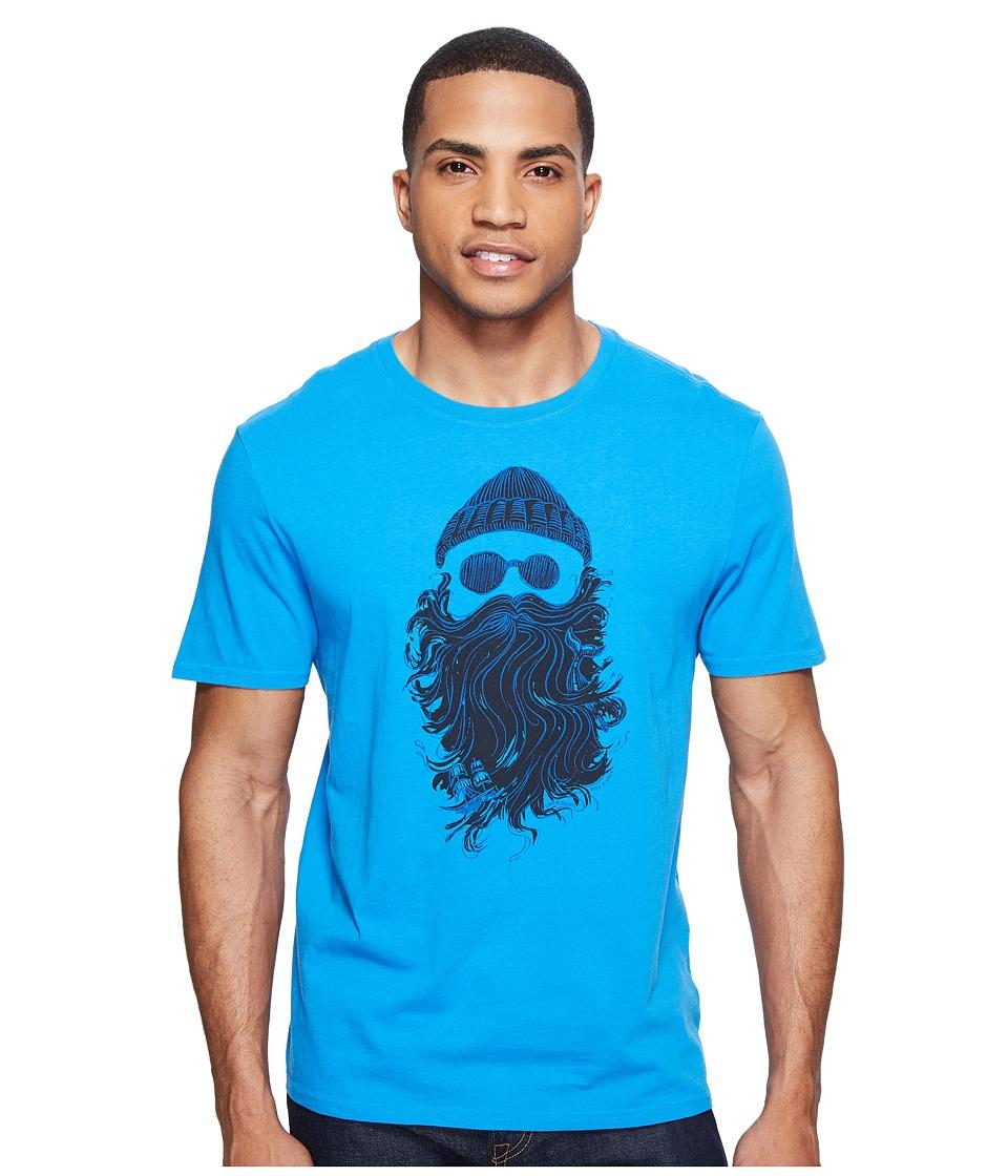 Life is Good Salty Beard Smooth Tee (Marina Blue) Men