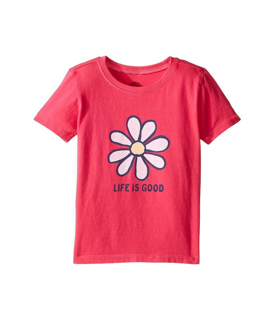 Life is good Kids Daisy Tee (Toddler) (Pop Pink) Girl