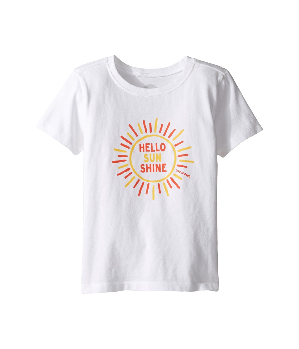 Life is good Kids Hello Sunshine Tee (Toddler) (Cloud White) Girl