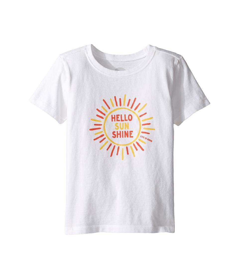 Life is good Kids Hello Sunshine Tee (Toddler) (Cloud White) Girl