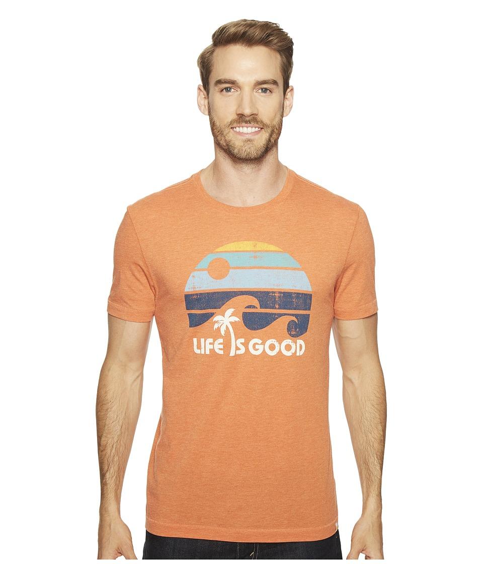 Life is Good Wave Cool Tee (Deep Orange) Men