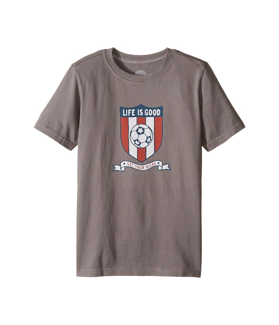 Life is Good Kids - Soccer Crest Crusher Tee