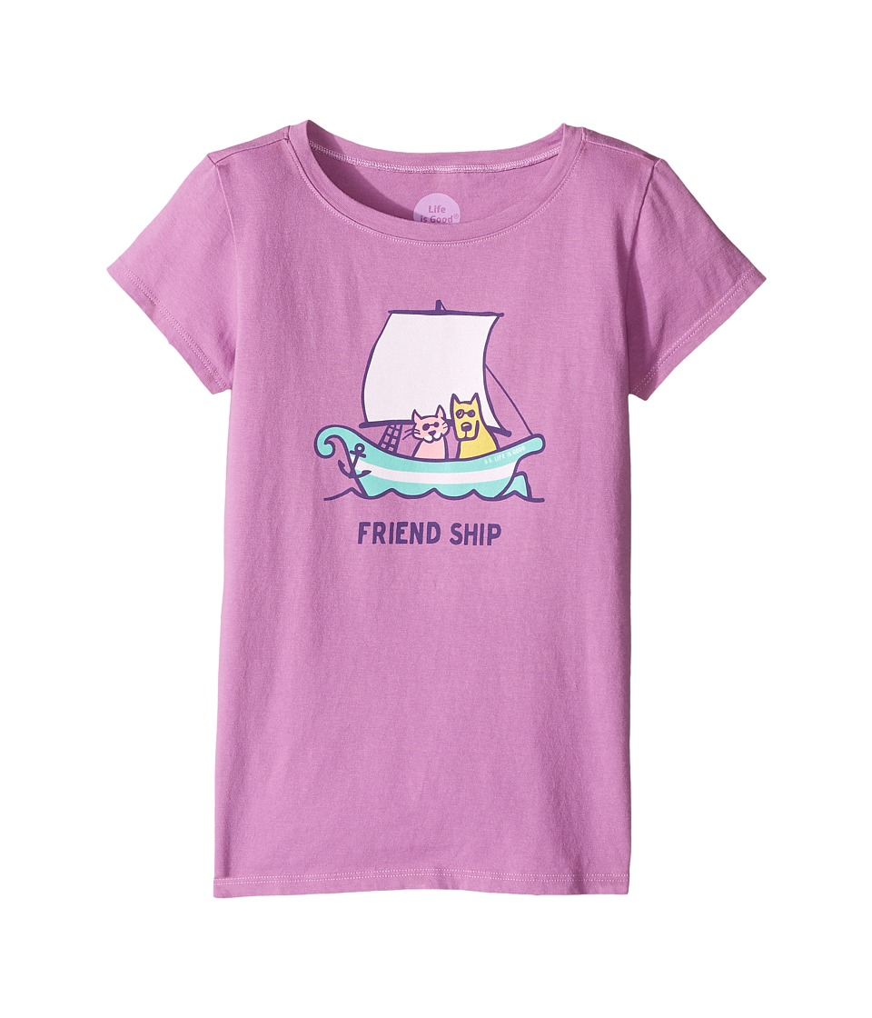 Life is good Kids Friend Ship Crusher Tee (Little Kids/Big Kids) (Dusty Orchard) Girl