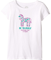 Life is Good Kids - Zebra Be Yourself Crusher Tee (Little Kids/Big Kids)