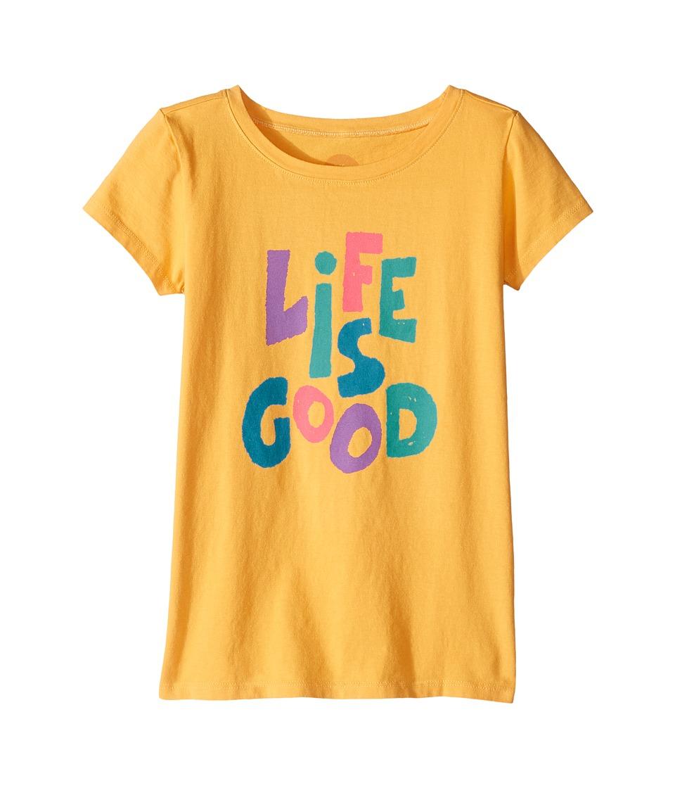 Life is good Kids Life is Good Crusher Tee (Little Kids/Big Kids) (Golden Yellow) Girl