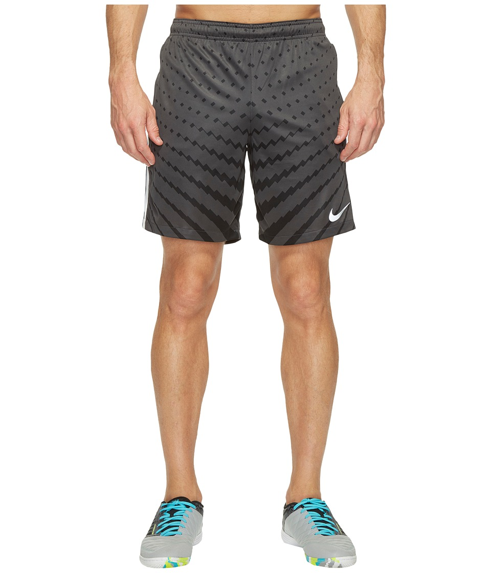 Nike - Dry Squad Soccer Short (Anthracite/Black/White/Metallic Silver) Men's Shorts