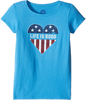 Life is Good Kids - Flag Crusher Tee (Little Kids/Big Kids)