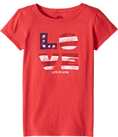 Life is Good Kids - Love Flag Crusher Tee (Little Kids/Big Kids)