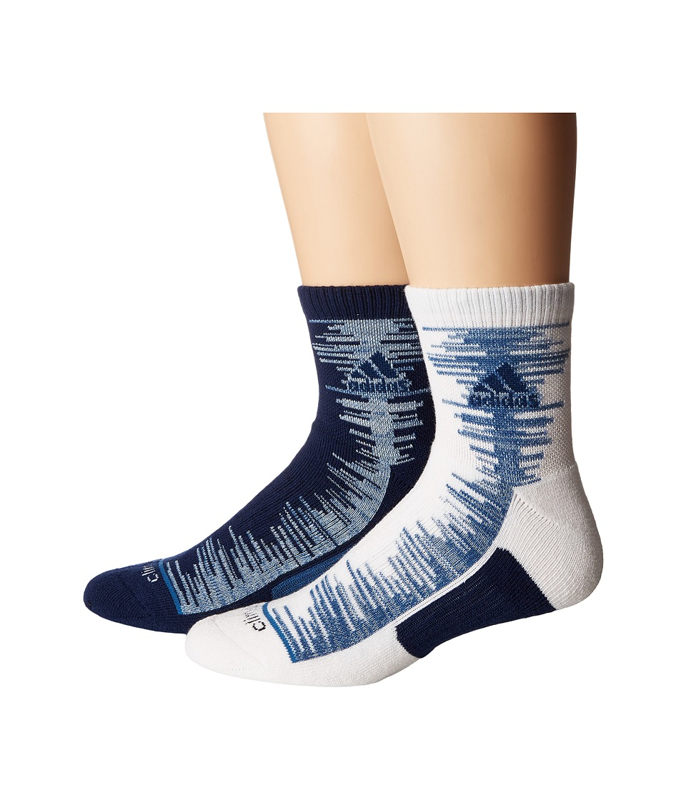 adidas - Frequency High 2-Pack Quarter Socks