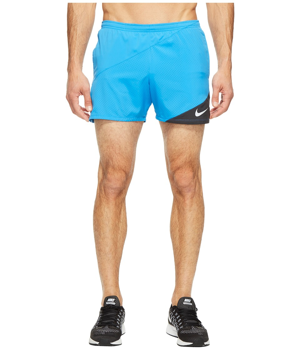 Nike Flex 5 Running Short (Light Photo Blue/Black) Men
